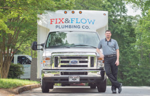 Fix & Flow Service Van with Owner Stephen Thompson