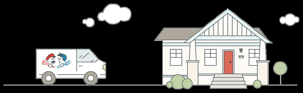 Fix & Flow Van and House
