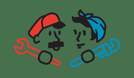 Fix & Flow Character Logo