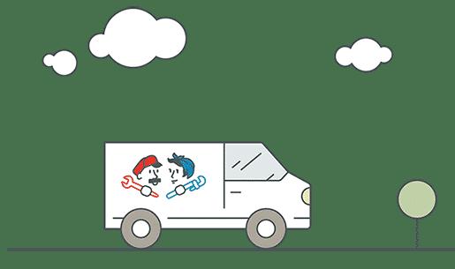 Fix & Flow Van Illustration