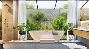 bathtub in natural light