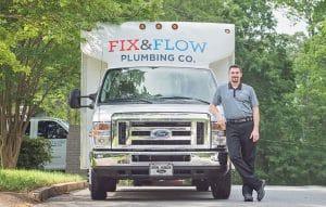 Fix & Flow Service Van with Owner Stephen Thompson